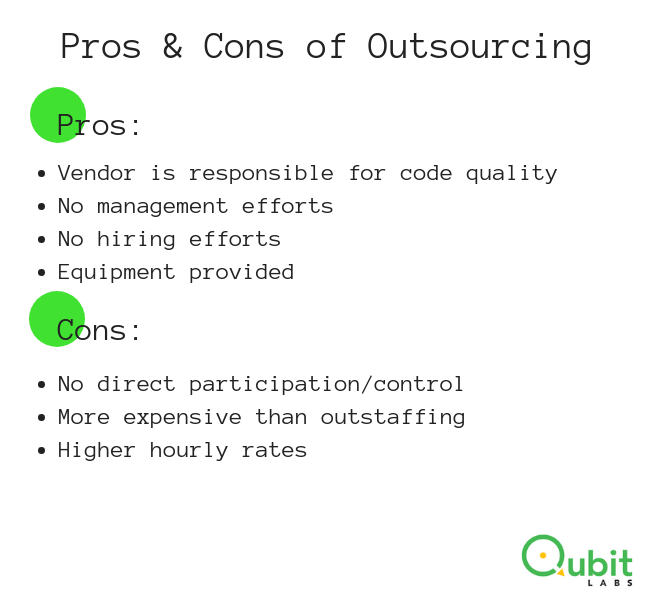 pros cons outsourcing