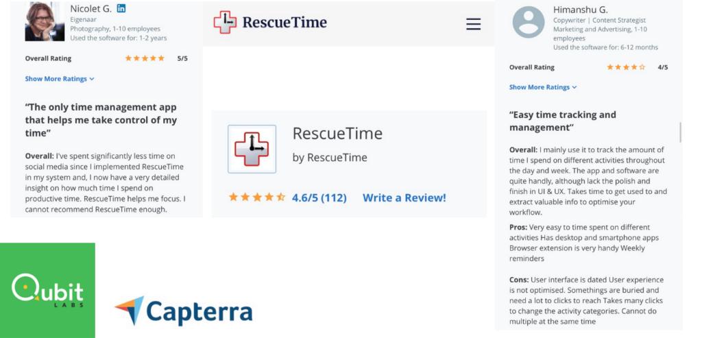 rescue time time management app reviews